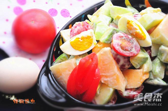 番茄鸡蛋水果沙拉的简单做法