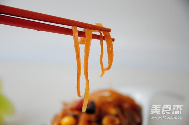 香辣炒芥菜成品图