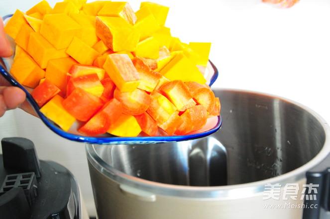 南瓜胡萝卜浓汤的家常做法