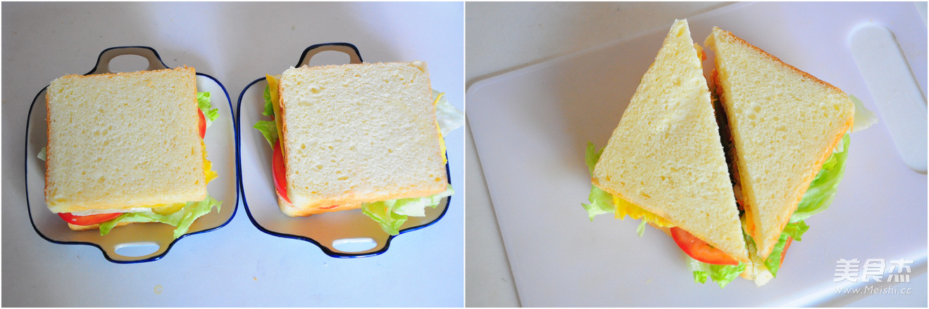 金槍魚三明治的步驟