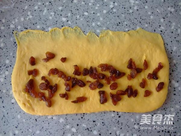 南瓜葡萄干圣诞花环面包怎么做