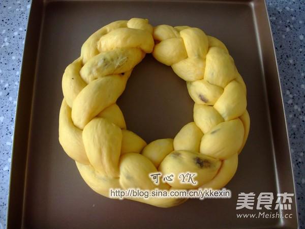 南瓜葡萄干圣诞花环面包怎样煮