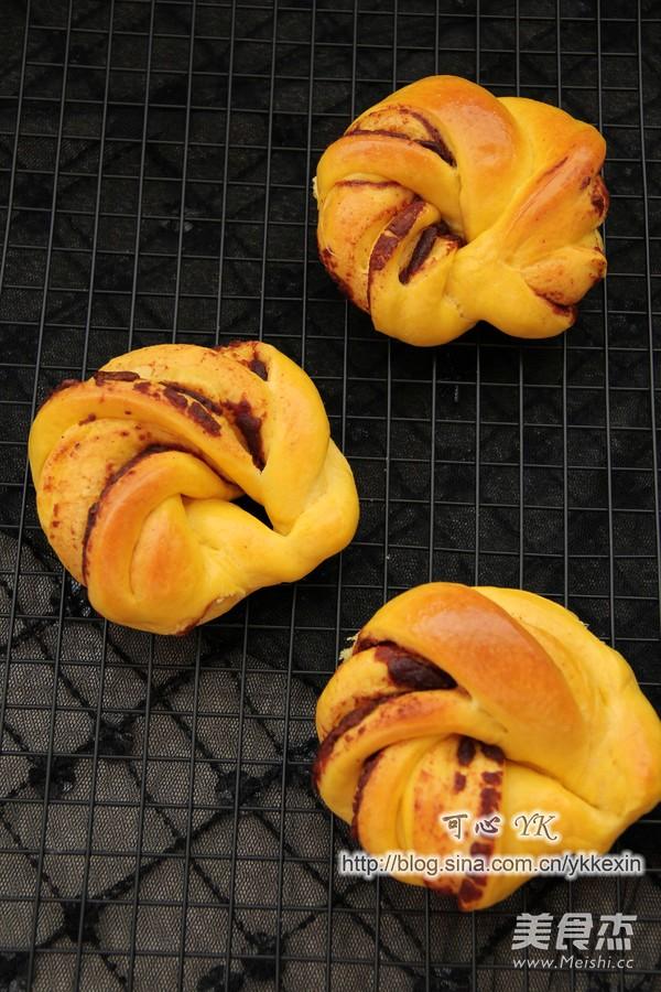 南瓜豆沙花包怎样做