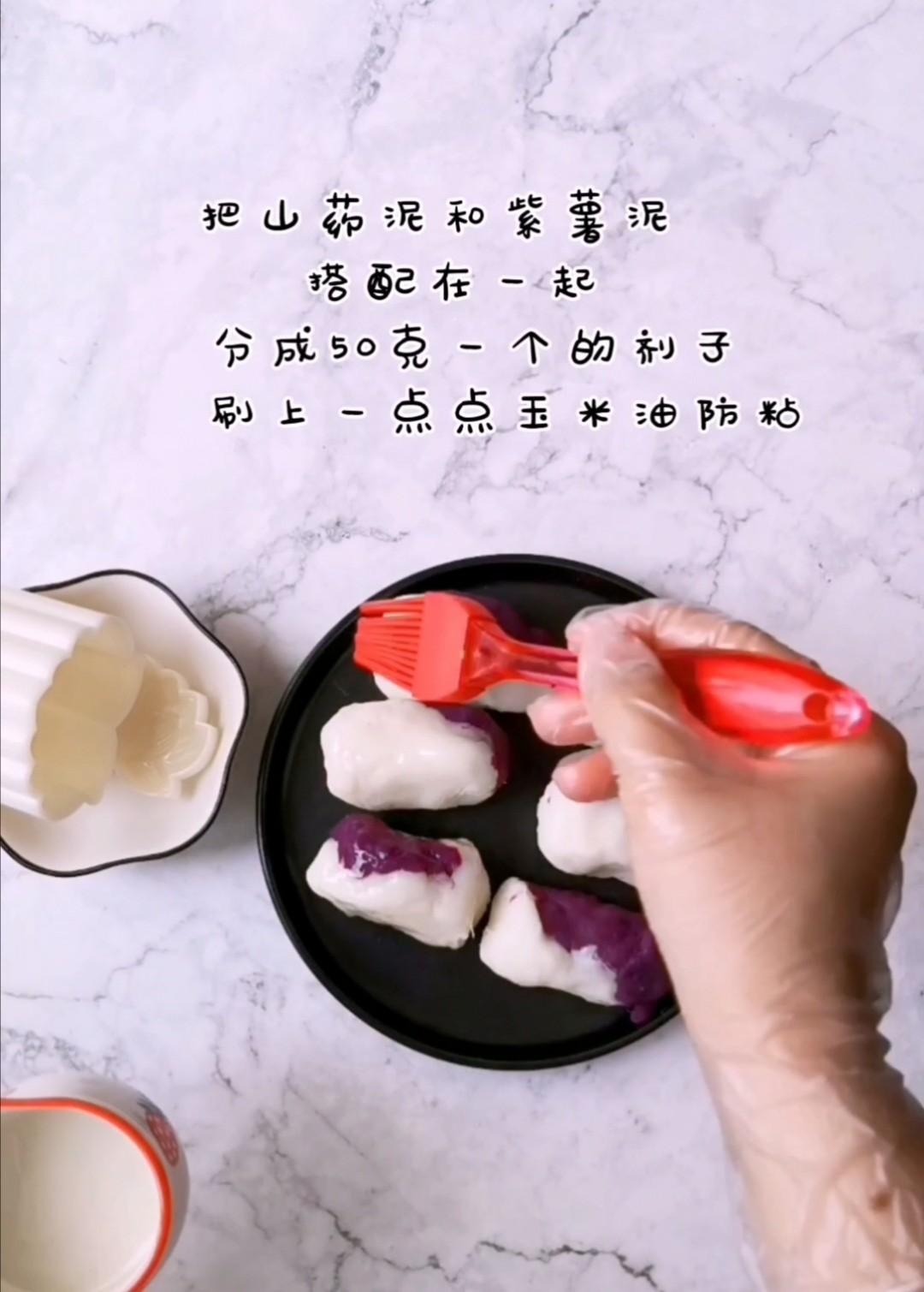 美容养颜的蜂蜜山药紫薯糕怎么吃