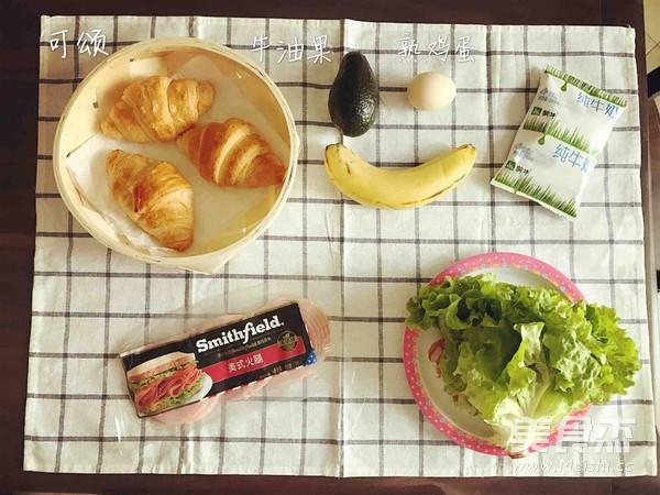可颂三明治、香蕉牛奶奶昔的做法大全