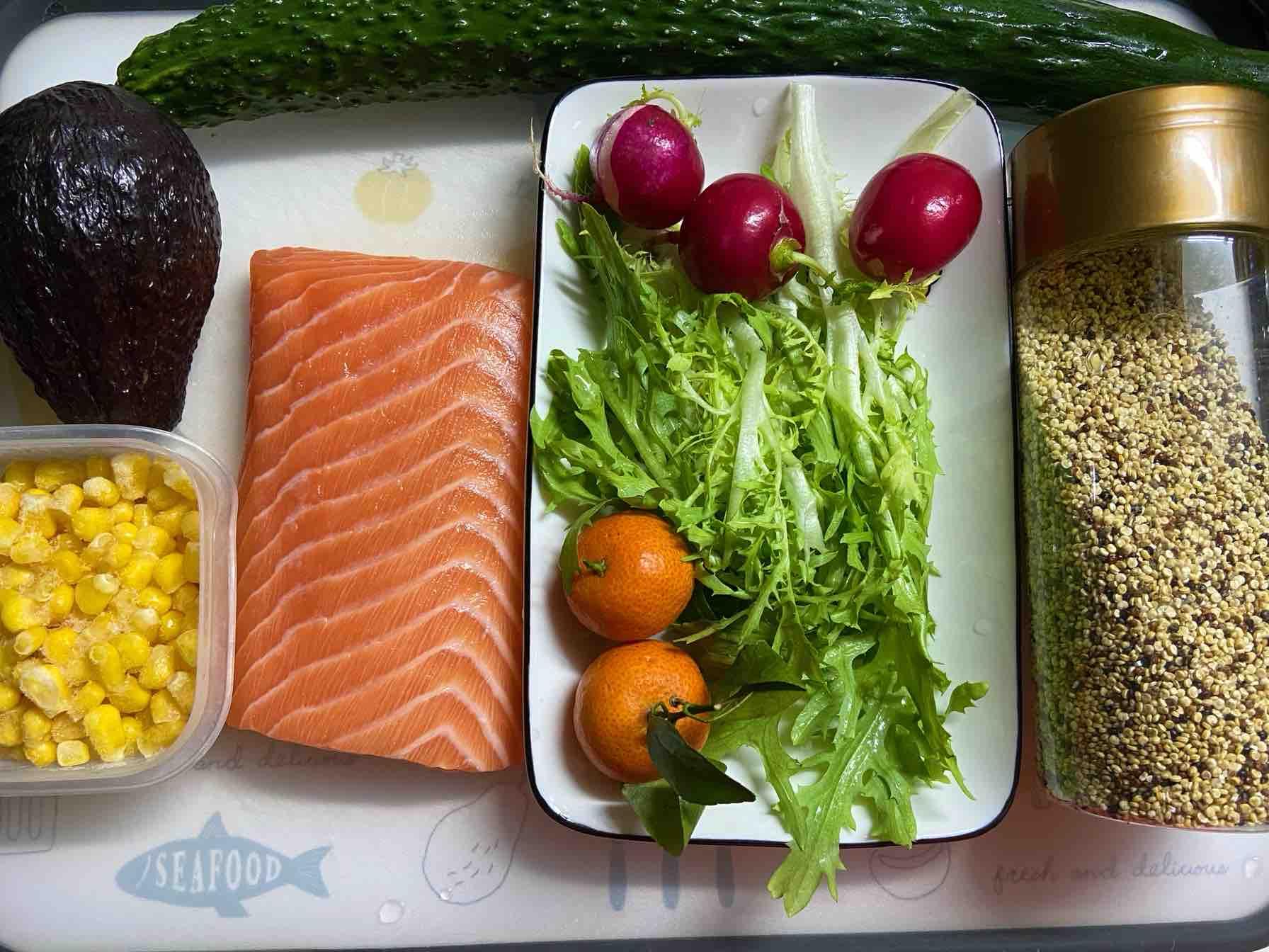 三文鱼沙拉便当的做法大全