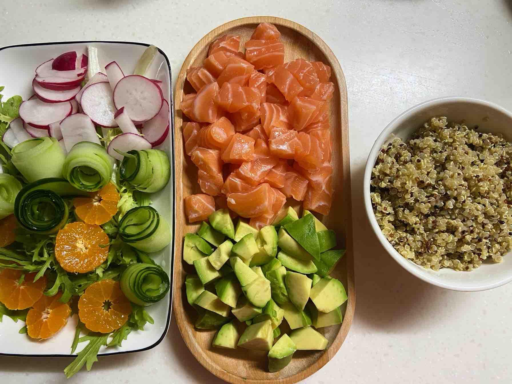 三文鱼沙拉便当的简单做法