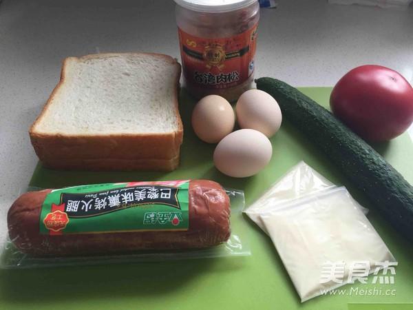 鸡蛋火腿三明治的做法大全
