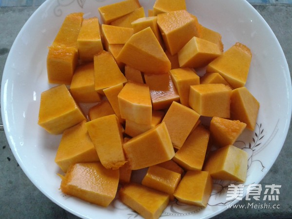 南瓜米饭的家常做法