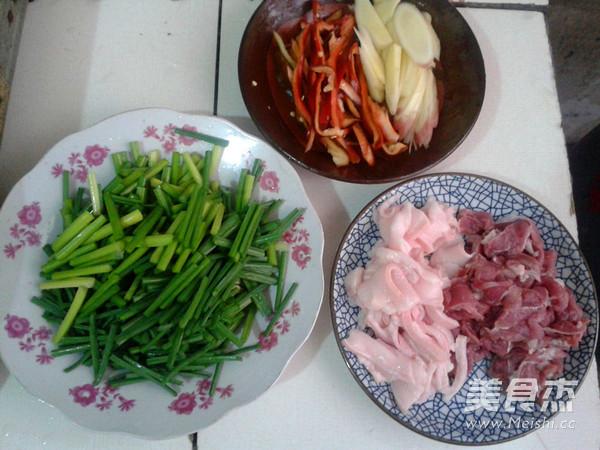 韭菜花炒肉的做法图解