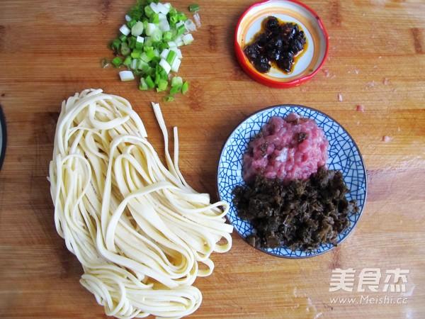 豆豉芽菜肉末酱拌面的做法大全