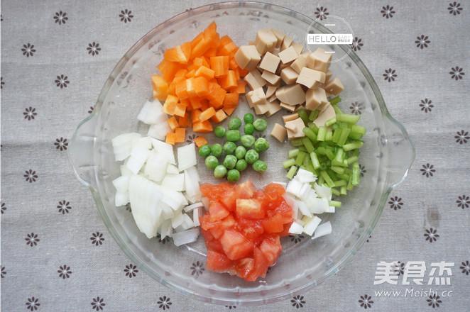 五彩菠萝饭的家常做法