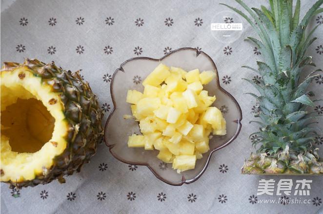 五彩菠萝饭的做法图解