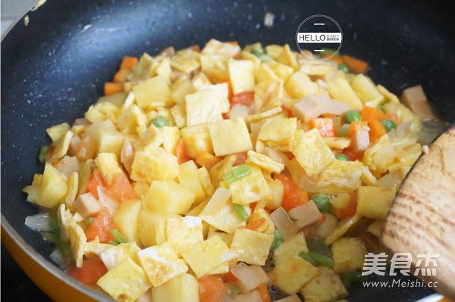 五彩菠萝饭怎么做