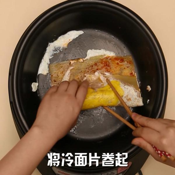 烤冷面怎么吃
