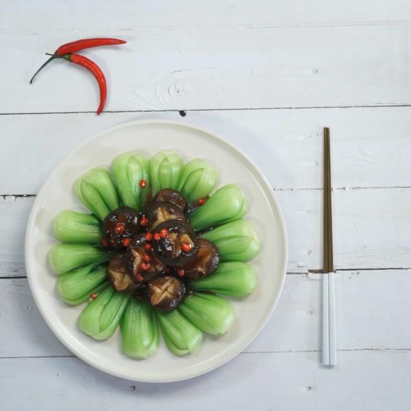 香菇油菜成品图