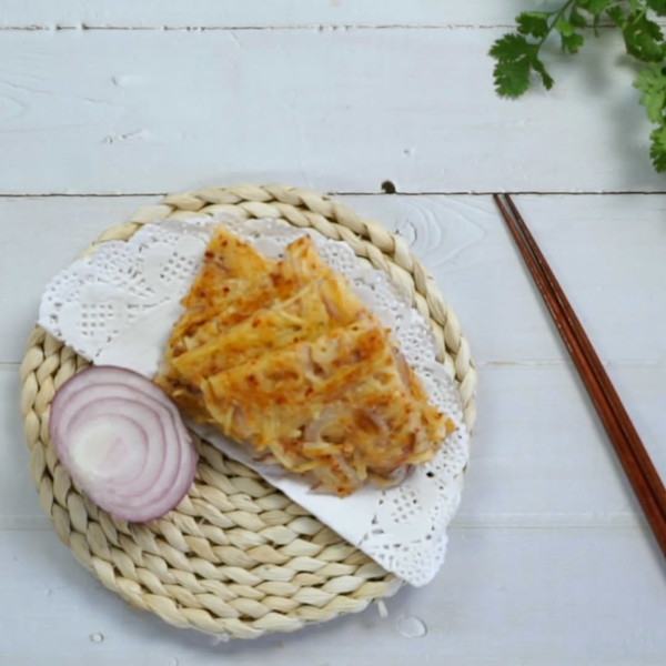 土豆丝饼成品图