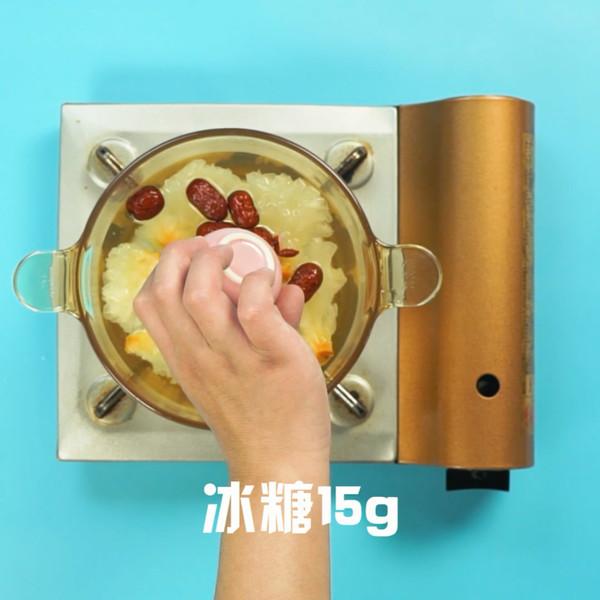 银耳红枣汤的步骤