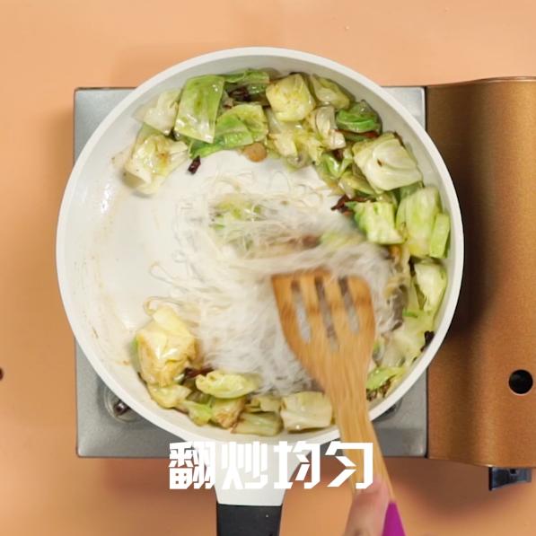 圆白菜炒粉丝的简单做法