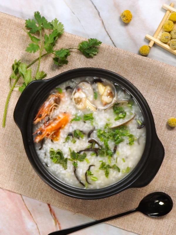 海鲜粥成品图