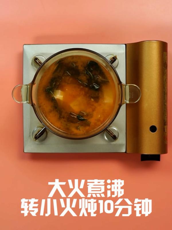 海带豆腐汤的步骤