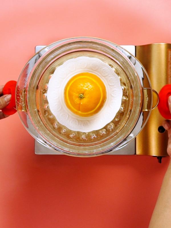 盐蒸橙子的步骤
