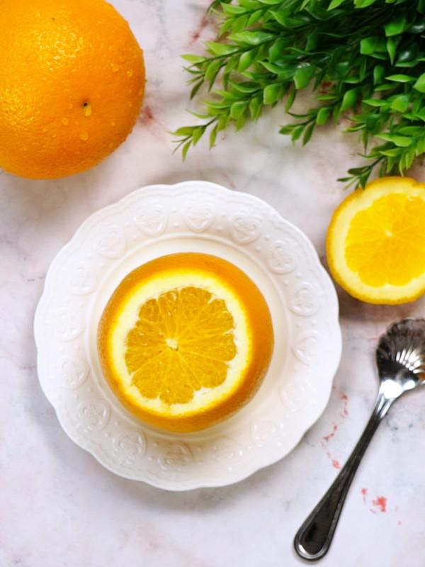 盐蒸橙子成品图