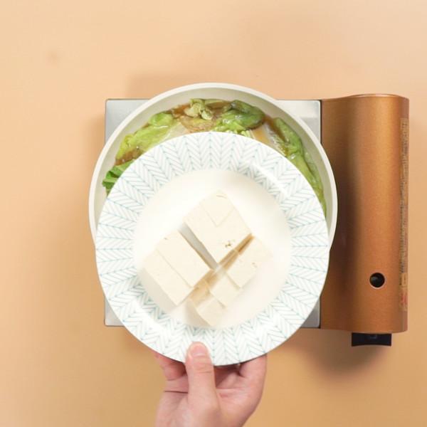 白菜豆腐汤的步骤