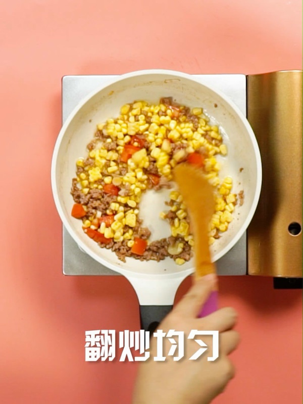 玉米炒肉末的简单做法