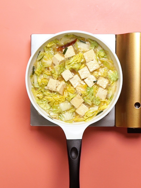 白菜炖冻豆腐怎么吃