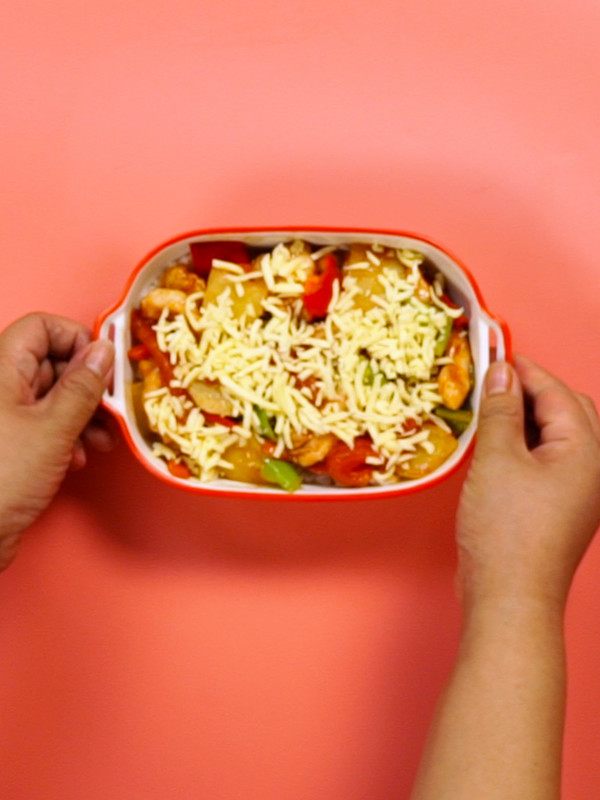 番茄鸡肉浓情焗饭怎么吃