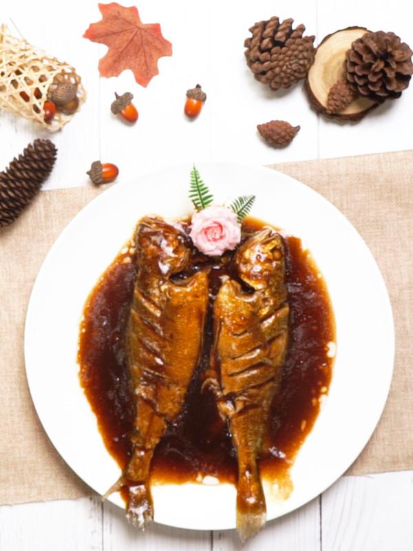 红烧小黄鱼成品图