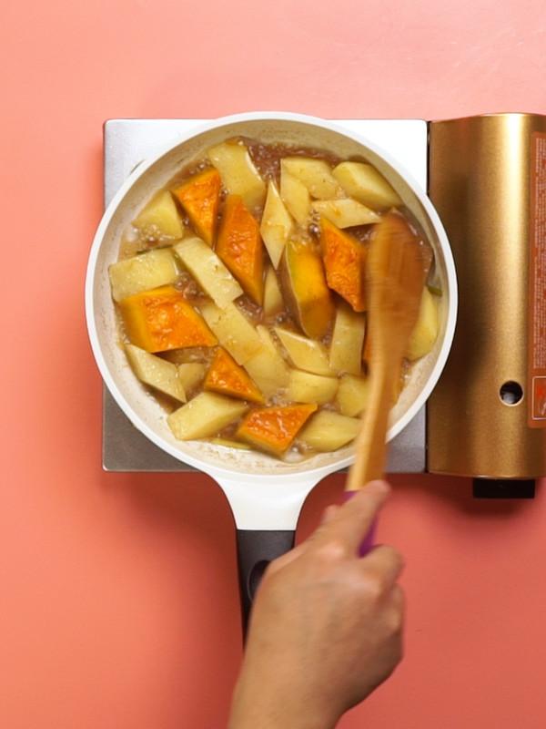 南瓜炖土豆怎么吃