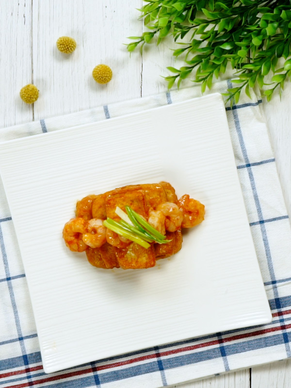 鲜虾番茄豆腐成品图