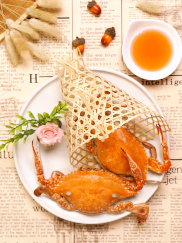 清蒸螃蟹成品图