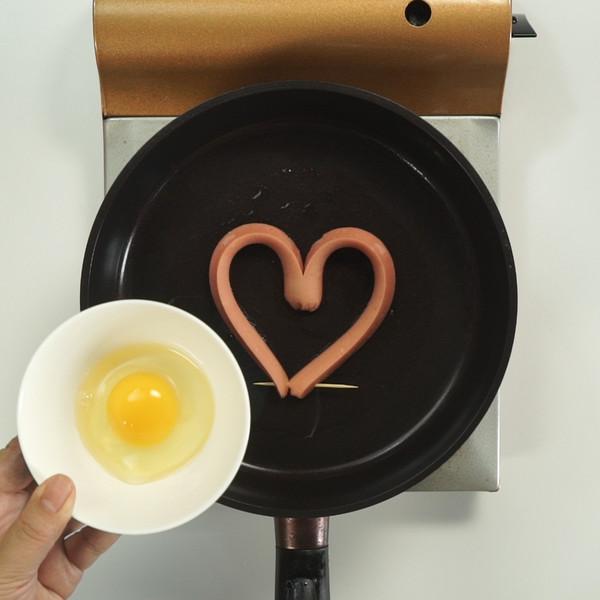 爱心煎蛋的家常做法
