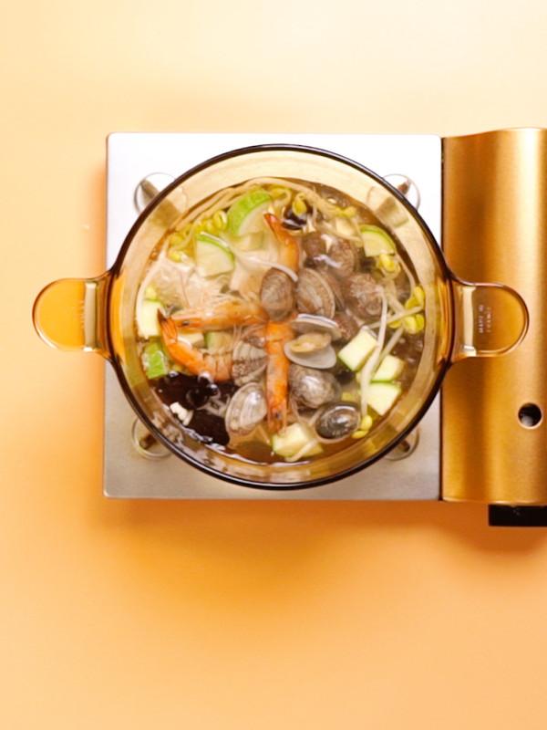 海鲜汤的步骤