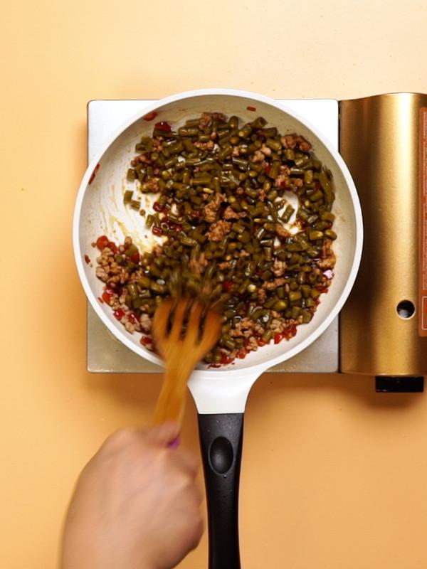 酸豆角炒肉末的简单做法