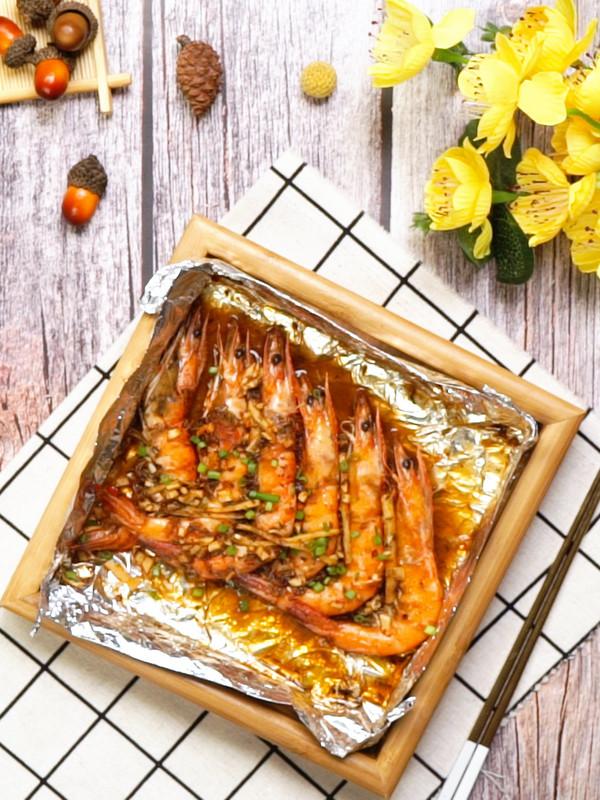 烤大虾成品图
