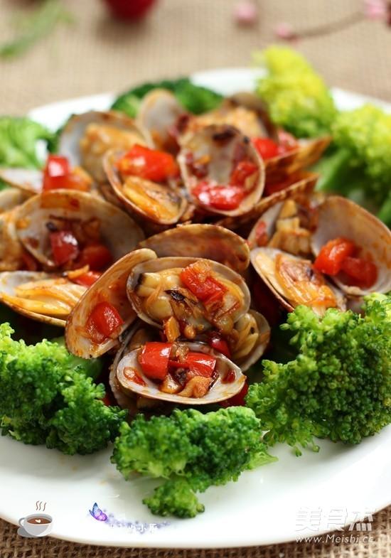 辣炒蛤蜊成品图