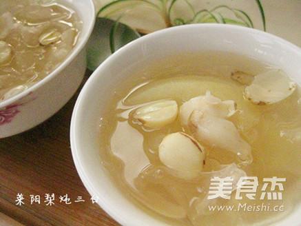莱阳梨三白汤成品图
