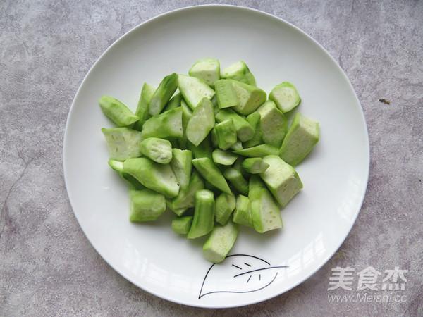 丝瓜炒虾仁的做法图解