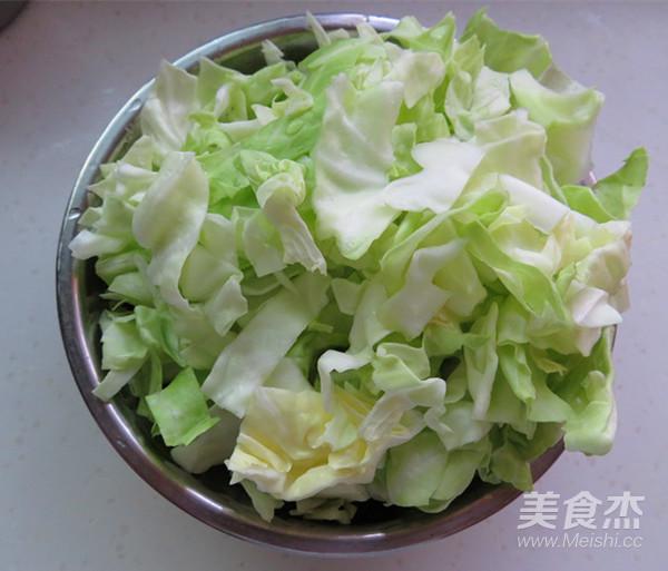 圆白菜炒粉丝的做法图解