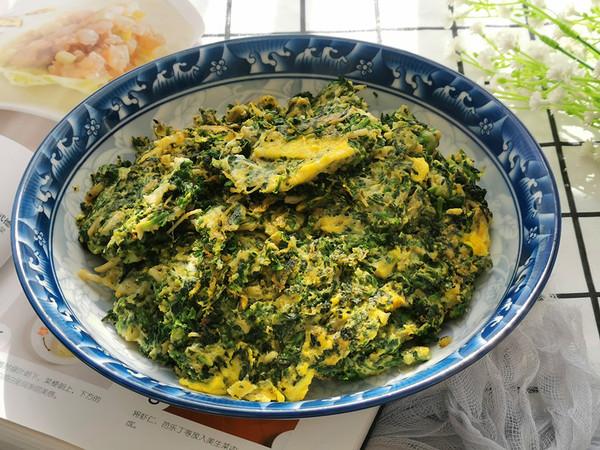 荠菜炒鸡蛋,鲜嫩美味比韭菜香的步骤