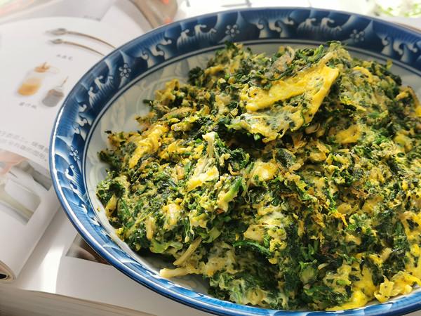 荠菜炒鸡蛋,鲜嫩美味比韭菜香成品图