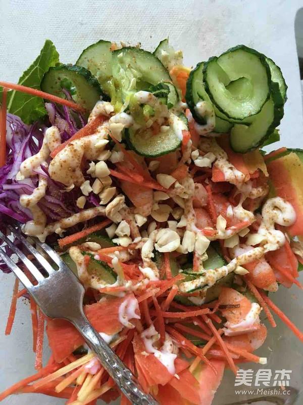 蔬菜沙拉的步骤