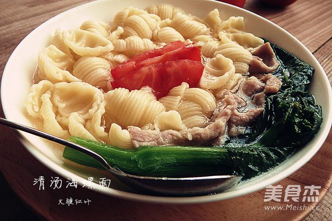 清汤海螺面怎么吃
