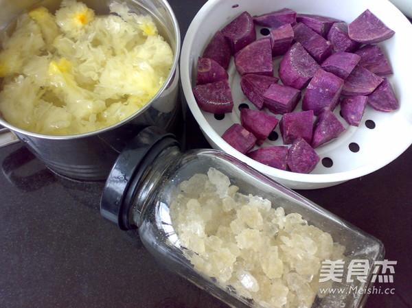 紫薯银耳羹的做法大全