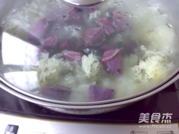 紫薯银耳羹怎么吃