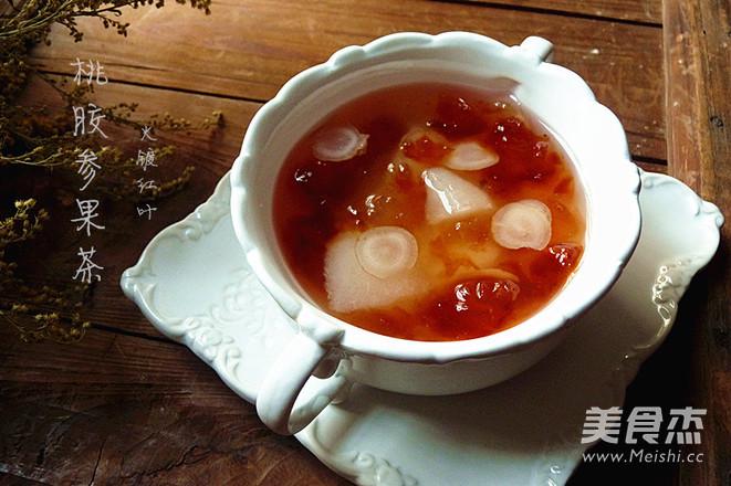 桃胶参果茶成品图